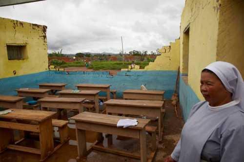 Zyklonschäden 2012 beim Zentrum Compassion Mangoraka Madagaskar