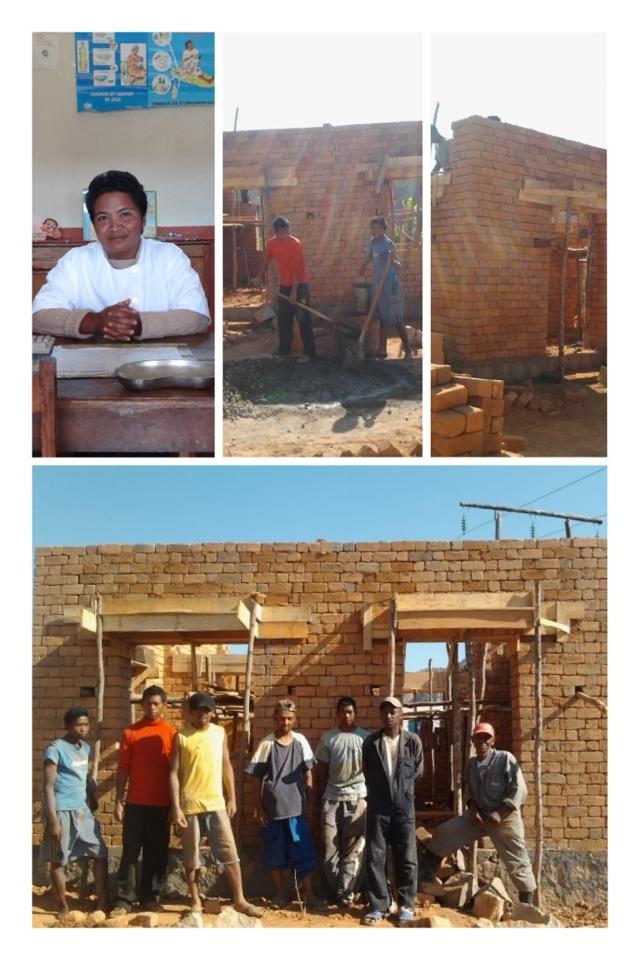 Tsinjony CSB1, das neue Haus für die Angestellten ist mit unserer Hilfe bald fertig gebaut :-)