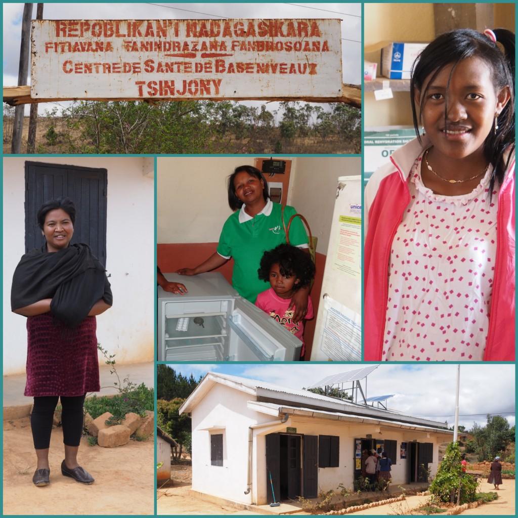 Neuen Kühlschrank für Medikamenten in Tsinjony, Madagaskar.